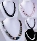 Gemstone necklace graduated 21""