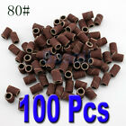 100 pcs Sanding Bands For Nail Drill Manicure #120 Pedicure Replacement Bits PR