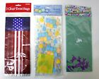 3 PACK LOT PARTY LOOT BAGS EASTER PATRIOTIC 4TH OF JULY NEW BABY BORN CELLOPHANE