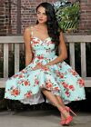 Stop Staring! NWT, the MARISOL Swing Dress in Mint & Florals, XS-XL Available!