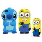Lovely Kids 3D Cute Despicable Me MinionsCartoon Soft Silicone Rubber Cover Case