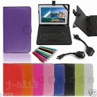 "Keyboard Case Cover+Gift For 10.1"" Hipstreet EQUINOX 1 2 3 4 Android Tablet GB6"