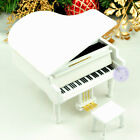 Vintage Wooden Sankyo Piano Music Box With Over 30 Melodies Choice (White Color)