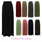 Ladies Skirt Womens Long Jersey Maxi Sizes 8-14 New