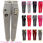 Baseball Tracksuit Jogging Bottoms Womens Pants Joggers Sizes 6-12 New