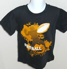 Gymboree Boy's Black Football Tee Shirt Sizes 4 & 6