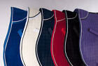 Rhinegold Velvet Saddle Pad Cloth Various Colours Contrasting Piping NEW 2014