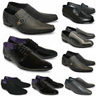 Mens Black New Lace Up Pointed Toe Wedding Office Formal Shoes Size UK 7 8 9 10