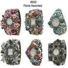 Floral Assorted Multicolor Ladies Bangle Fashion Watch USA Seller