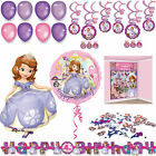 Sofia the First Party Decorations Birthday Banner - Balloons - Swirls - Streamer