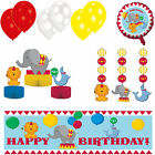 Circus Time Party Decorations Balloons - Birthday Banners - Hanging Swirls
