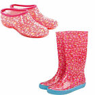 BRIERS DAISY CLOGS AND WELLIES PVC FASHION GARDENING FOOTWEAR VARIOUS SIZES