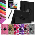 Rotating Case Stand Cover for Samsung Galaxy Tab 4 10.1 SM-T530 Screen Protector