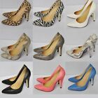 Womens Faux Snakeskin Pointed Toe Stiletto High Heel Pumps Court Shoes UK 2-9