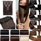 Clearance Price Full Head Clip In Hair Extensions For Human Party UK Seller ltd