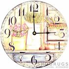 Shabby Chic Retro Vintage Style 'Jugs and Flowers' Wall Clock