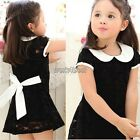 Toddler Kids Baby Party Princess Skirt Girls Lace Floral Tutu Dress 1-6Y WST