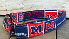 University of Mississippi Ole Miss BUCKLE dog collar with leash option