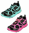 Hi Tec Kali Ladies Black/Mint & Black/Pink Casual Lace  Trainers