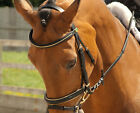 Rhinegold Quality German Leather Bridle with Gold Piping Very Stylish