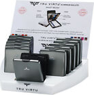 TRU VIRTU Beluga Aluminium Fold Wallet Card RFID Case Money Clip Coin Holder New