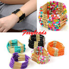 Women Bohemian Charming Beaded Bangle Bracelet Multilayer Fashion Jewelry Gift