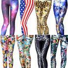 Womens Digital Graphic Printing Skinny Leggings Tights Pants Pantyhose Jumpsuit