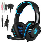 Sades SA-708GT HiFi Stereo Bass Headset Headband 3.5mm PC Notebook Pro Gaming