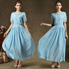 New Artistic design graceful vintage lady's party dinner chiffon long dress gown