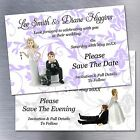 Personalised Funny Wedding Save The Date Magnets Invites Many Designs & Colours