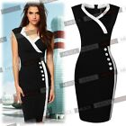 Ladies Summer Business Offices Work Cocktail Pencil Party Dresses Size 68102468
