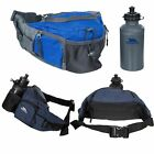 Trespass Vasp Hiking Travel Bum Bag with Padded Hip Belt 0.5 L Water Bottle
