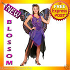 C829 Purple Butterfly Deluxe Queen Fairy Fancy Dress Halloween Adult Costume