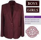 (CLEARANCE SALE) Maroon Burgundy School Blazer Girls Badgeable