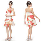 Womens Cheap Romantic Chiffon Summer Cocktail Party Dresses Casual Dresses 03184