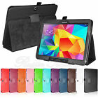 For Samsung Galaxy Tab 4 10.1 SM-T530NU Tablet Folio Stand Leather Cover Case