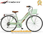 "BICI MBM TOURING WOMAN RUOTE 28"" BICICLETTA DONNA TREKKING CITY BIKE MENTA 6S"