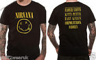 NIRVANA Smiley Face T Shirt Black Official New Grunge Kurt Cobain Dave Grohl