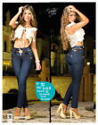 High Waisted sexy women's Skinny jeans -Ladys Pants Premium Denim Colombian Jean