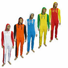 Mens Fleece Zip Up Flags Hooded All in One Jumpsuit Playsuit Tracksuit Onesie UK