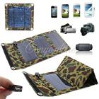 USB 3W 5W 7W Solar Panel Power Foldable Battery Charger for MP 3 4 5 iPod Camera