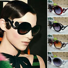 Women's Lady Retro Vintage Shades Stylish Oversized Designer Sunglasses Black
