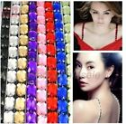 Free Shiping Womens Crystal Elastic Bra Rhinestone Shoulder Strap ,9colors