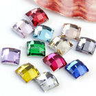 Lot 100pc Square Resin Rhinestone Beads Shiny Flatback Nail Art Phone Decoration