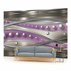 Purple and Silver Bubble Pattern 8 Photo Wallpaper Wall Mural (CN-1453VE)