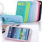 I_glow Dual Color Hybrid Back Stand Case Cover For Samsung Galaxy S3 SIII I9300