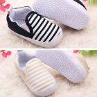 Baby Kids Toddler Unisex Boys Girls Blend Soft Walkers Stripe Cloth Shoes