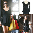 New Sexy Women's Long Sleeve Black Lace Slim Clubbing Cocktail Party Mini Dress