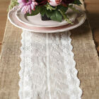 Rustic Burlap Lace Hessian Table Runner Natural Jute Vintage Wedding Party