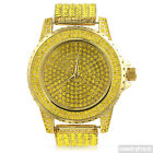 Gold Canary Yellow Lemonade Iced Out Sport Watch for Men